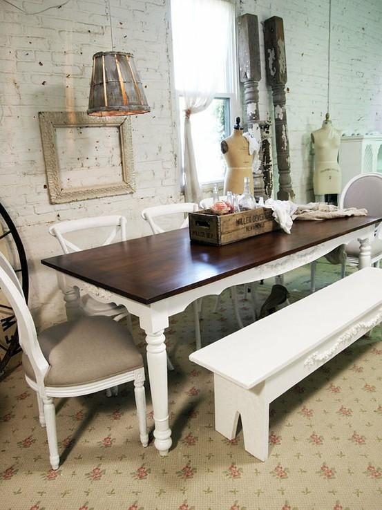 39 Beautiful Shabby Chic Dining Room Design Ideas – Digsdigs In Shabby Dining Tables And Chairs (Image 1 of 20)
