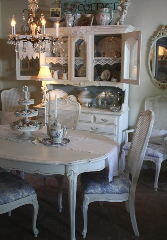 39 Beautiful Shabby Chic Dining Room Design Ideas – Digsdigs With Regard To Shabby Dining Tables And Chairs (Image 2 of 20)