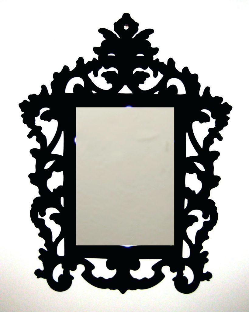 3Mm Laser Cut Acrylic Rococo Inspired Baroque Mirror Frameplastic In Small Baroque Mirror (Image 2 of 20)