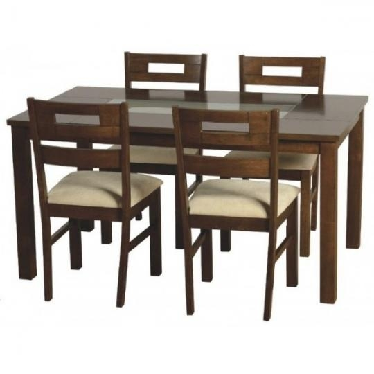 4 Dining Table Chairs With Dining Table Chair Sets (Photo 11 of 20)
