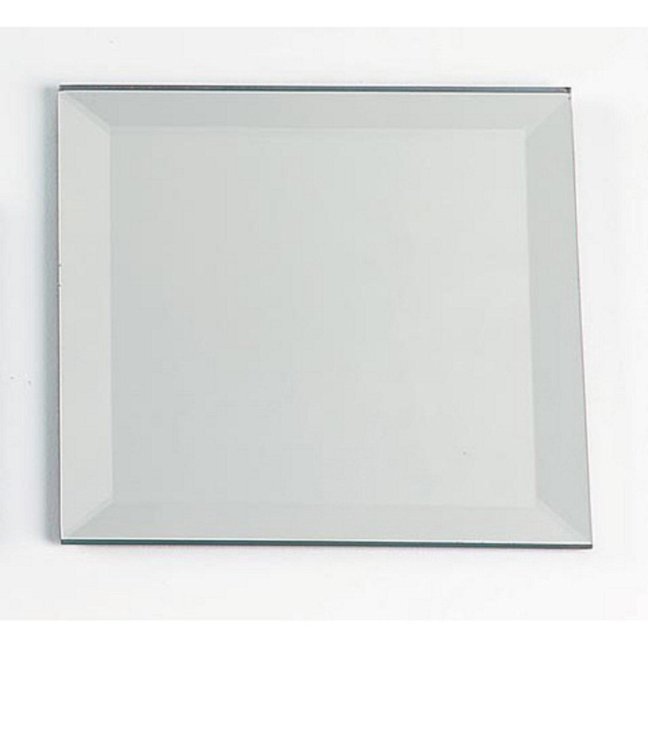 4 Inch – Square Beveled Edge Glass Mirror – Mosaic Tile Focal From Intended For Square Bevelled Mirror (Image 1 of 20)
