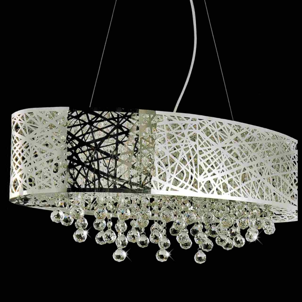 4 Light Chrome Crystal Chandelier Bcm 030 Sc4 Nice Modern Crystal With Regard To Crystal Chandeliers With Shades (Photo 24 of 25)