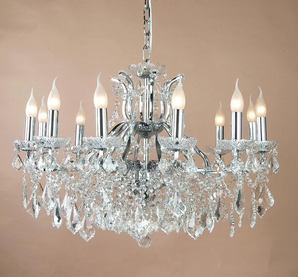 4 Light Chrome Crystal Chandelier Lucinda Branch Chandelier With Regard To 4Light Chrome Crystal Chandeliers (Image 1 of 25)