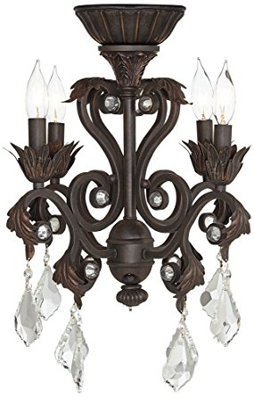 4 Light Oil Rubbed Bronze Chandelier Ceiling Fan Light Kit In Chandelier Light Fixture For Ceiling Fan (Photo 13 of 25)