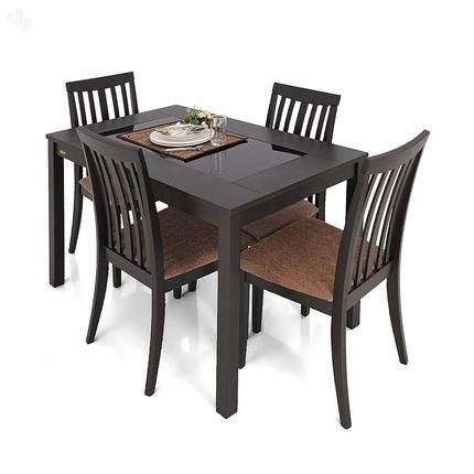 4 Seater Dining Table And Chairs India Seater Dining Set Four For 4 Seat Dining Tables (Photo 1 of 20)