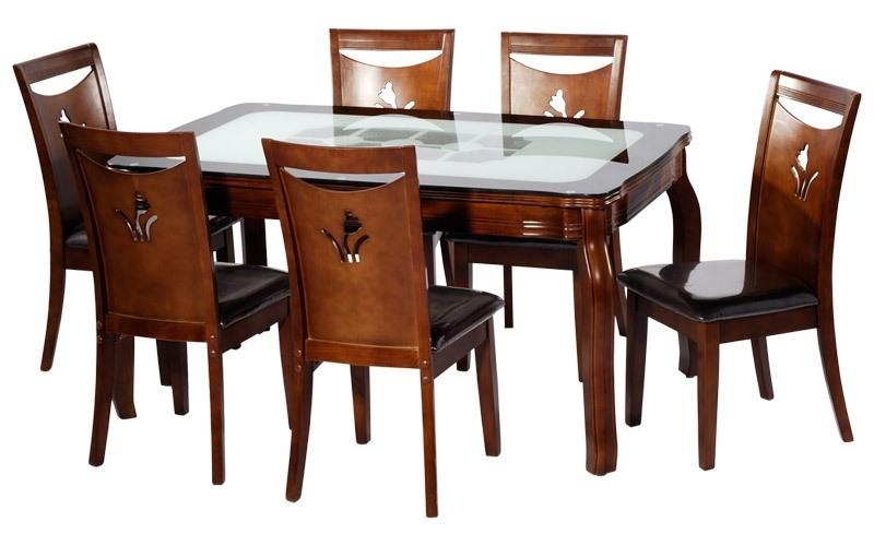 4 Seater Dining Table And Chairs India Seater Dining Set Four Inside 6 Chairs Dining Tables (Image 2 of 20)