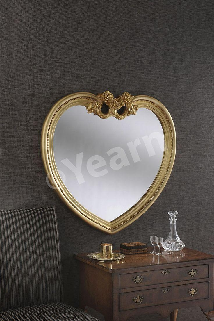 40 Best Mirrors Images On Pinterest | Wall Mirrors, Round Mirrors Regarding Gold Heart Mirror (Photo 5 of 20)