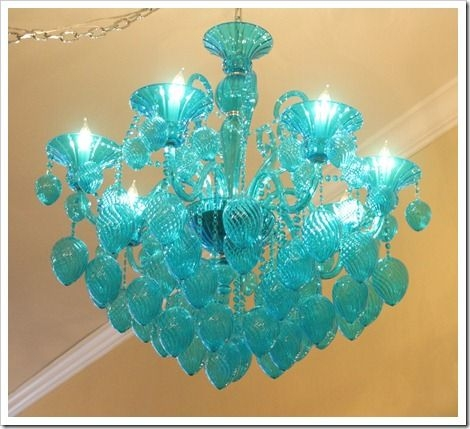 417 Best Chandeliers Images On Pinterest Regarding Turquoise Glass Chandelier Lighting (Image 7 of 25)