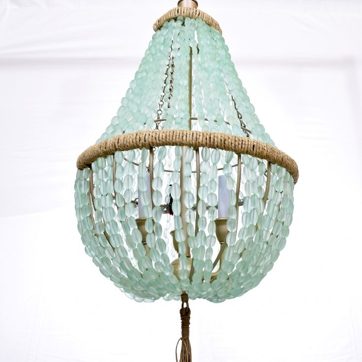 420 Best Diy Lighting Images On Pinterest In Turquoise Beaded Chandelier Light Fixtures (Image 5 of 25)