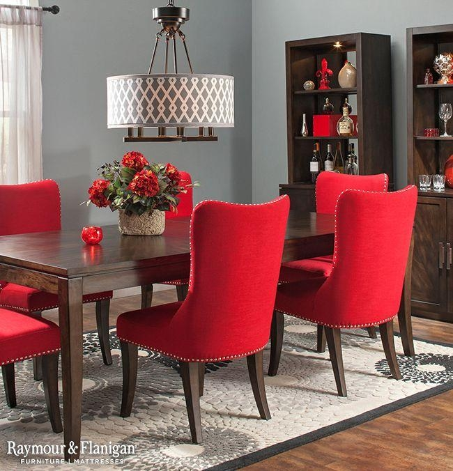 45 Best {Dining} Rooms Worth Repinning Images On Pinterest Within Red Dining Tables And Chairs (Image 4 of 20)