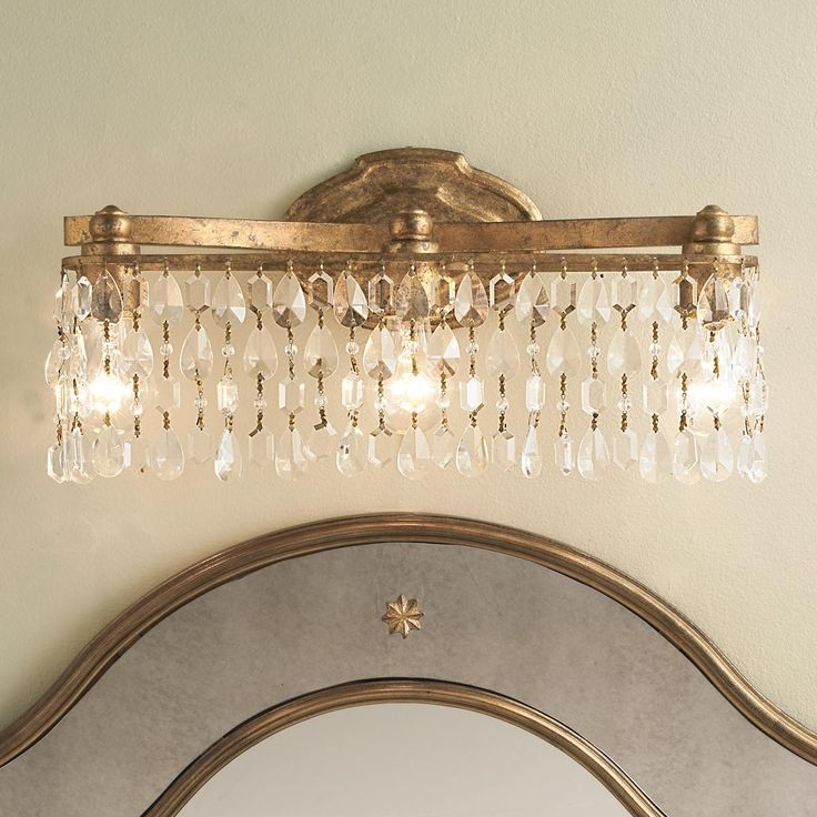 48 Best Bling Is In Images On Pinterest Crystal Chandeliers Pertaining To Chandelier Bathroom Lighting Fixtures (Image 3 of 25)