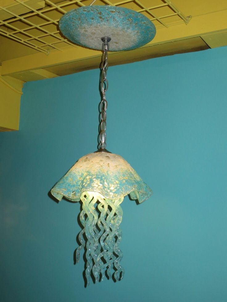 49 Best Art Glass Lighting Images On Pinterest Intended For Turquoise Blown Glass Chandeliers (View 21 of 25)