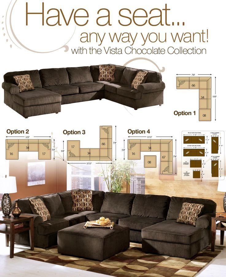 49 Best Ashley Furniture Images On Pinterest | Living Room Ideas Intended For Ashley Furniture Brown Corduroy Sectional Sofas (Image 3 of 20)