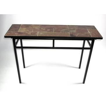 4D Concepts Sofa Table W/ Slate Top In Metal – Beyond Stores Throughout Slate Sofa Tables (Image 1 of 20)