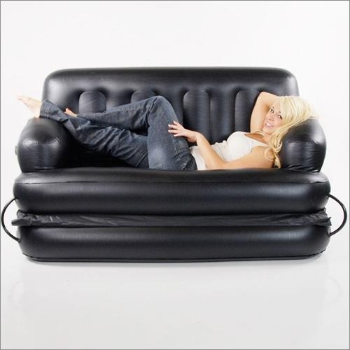 5 In 1 Inflatable Sofa Queen Air Bed In Blacksmart Air Beds Bd For Inflatable Sofa Beds Mattress (Image 3 of 20)