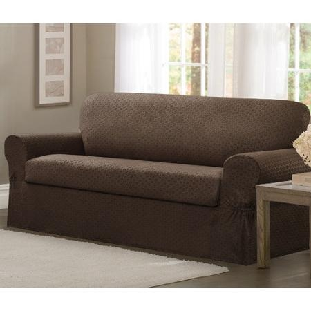 5 Piece Sofa Slipcover Quickcover Luxury Suede One Piece Relaxed With Regard To 3 Piece Slipcover Sets (Image 11 of 20)