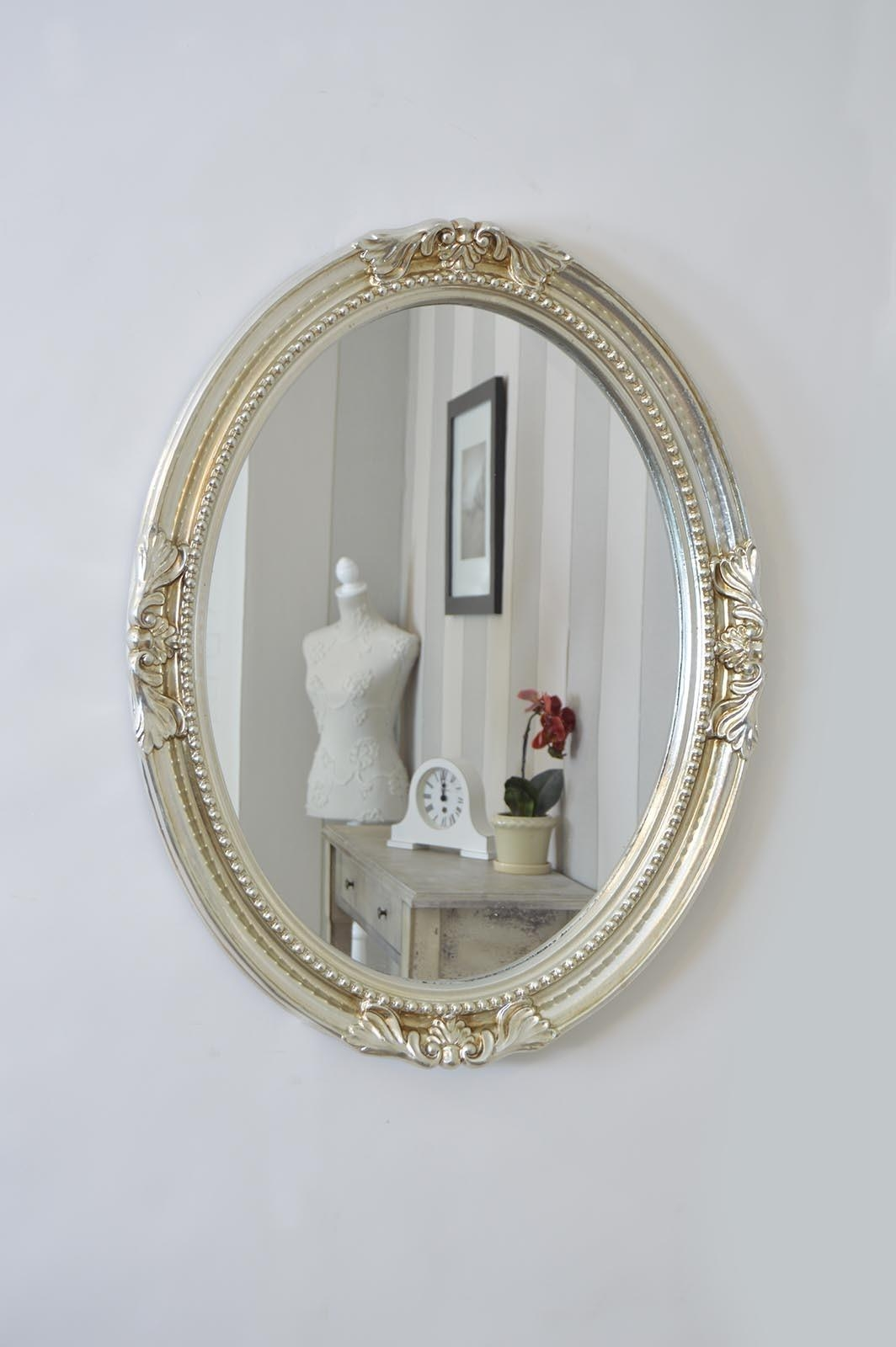 5 Tips For Best Choices Of Oval Wall Mirror – Interior Design With Silver Oval Wall Mirror (Image 1 of 20)