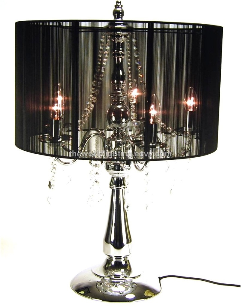 50 Chandelier Lamps Chandelier Table Lamp Camewatchus Regarding Black Chandelier Standing Lamps (Image 1 of 25)