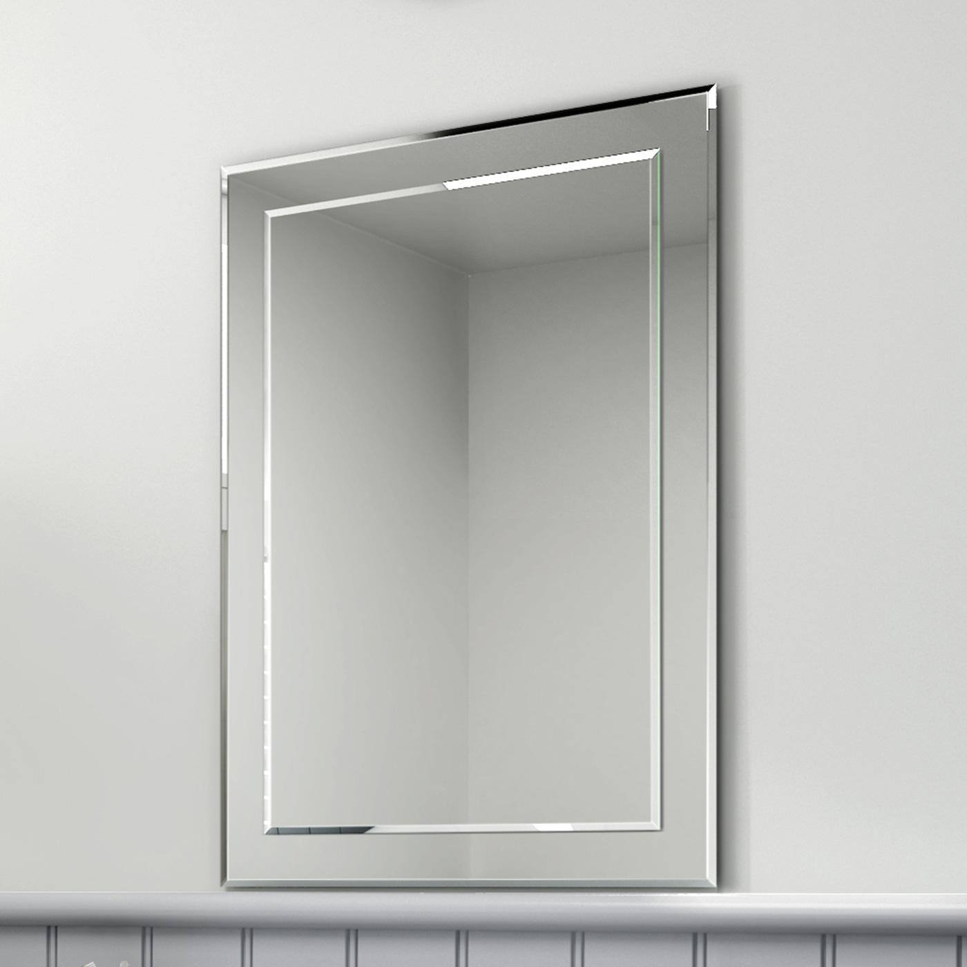 500X700Mm Rectangular Glass Bevelled Edge Bathroom Mirror Mc148 | Ebay Inside Bevelled Mirror (View 3 of 20)