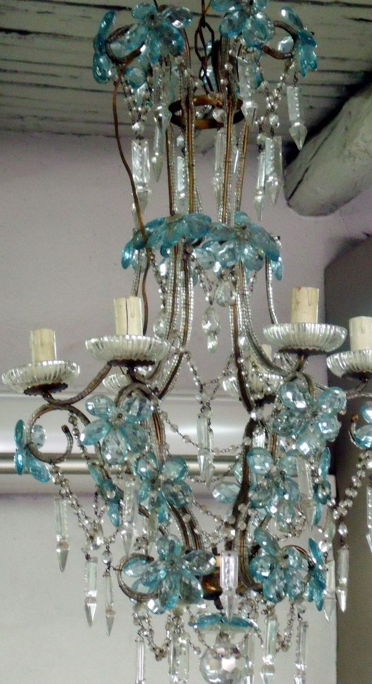 51 Best Chandeliers Wind Chimes Images On Pinterest Pertaining To Turquoise Chandelier Crystals (Image 5 of 25)
