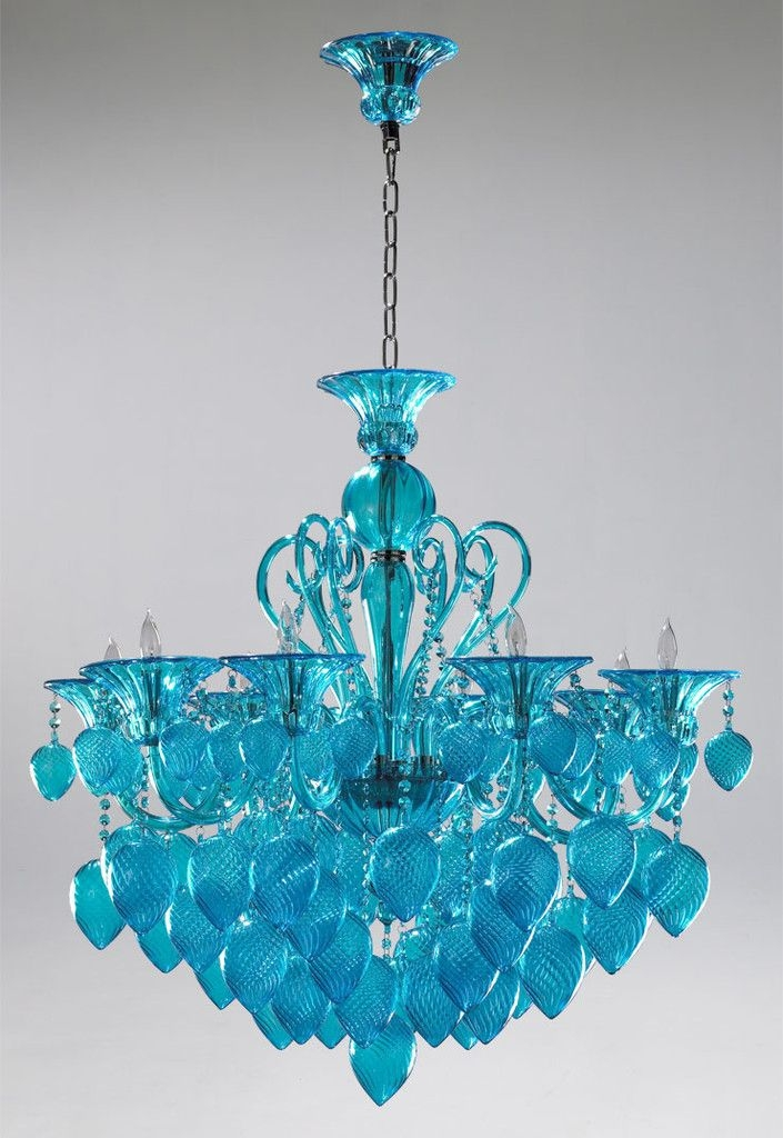 51 Best Chandeliers Wind Chimes Images On Pinterest Throughout Turquoise Glass Chandelier Lighting (Image 8 of 25)