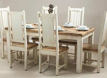 52 Shabby Chic Kitchen Table And Chairs, Shabby Chic Dining Room With Shabby Chic Cream Dining Tables And Chairs (Image 2 of 20)