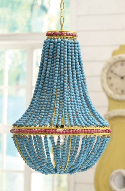 53 Best Valaisimia Images On Pinterest Throughout Turquoise Blue Beaded Chandeliers (Image 3 of 25)