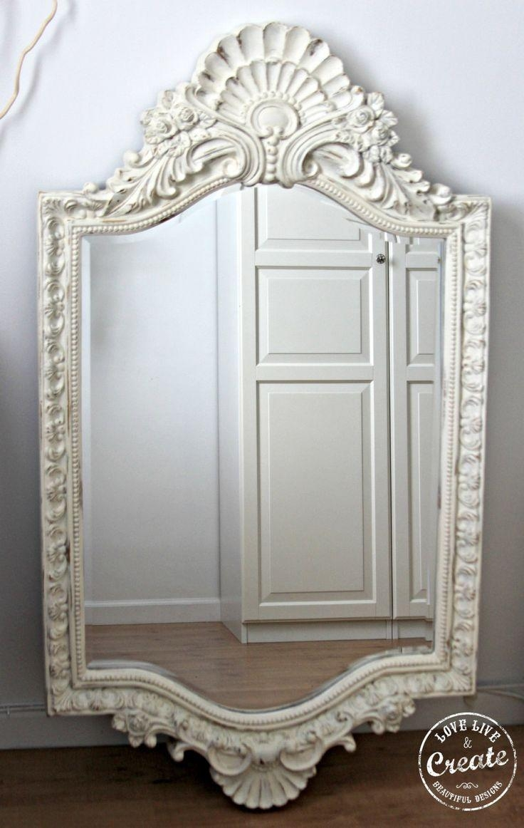 54 Best Mirrors Images On Pinterest | Mirror Mirror, Decorative Intended For Shabby Chic Mirror White (Photo 19 of 20)