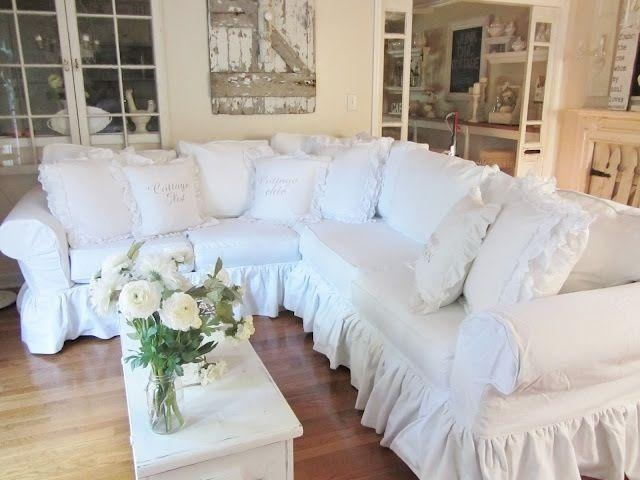 54 Best White Living Room Images On Pinterest | Home, Live And In Shabby Chic Sectional Sofas Couches (Image 4 of 20)