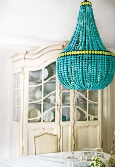 57 Best Chandelier Ideas Images On Pinterest For DIY Turquoise Beaded Chandeliers (Image 8 of 25)