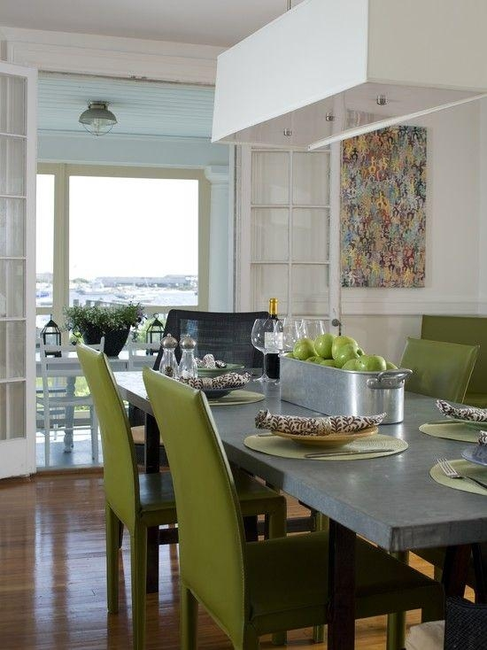 58 Best ~ Dining Room Décor ~ Images On Pinterest | Contemporary For Green Dining Tables (Image 5 of 20)