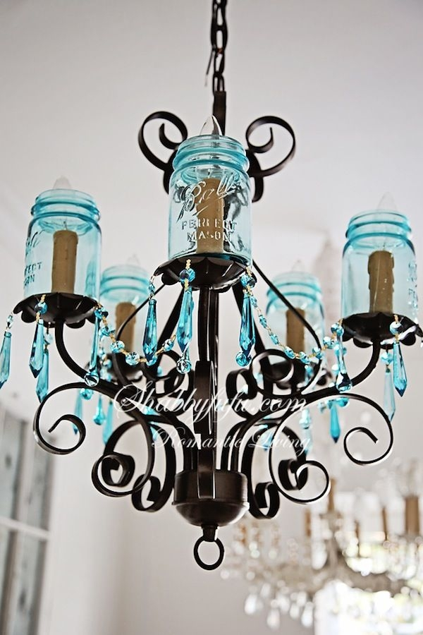 584 Best Lighting Ideas Images On Pinterest Lighting Ideas Diy Regarding Turquoise Ball Chandeliers (Image 9 of 25)
