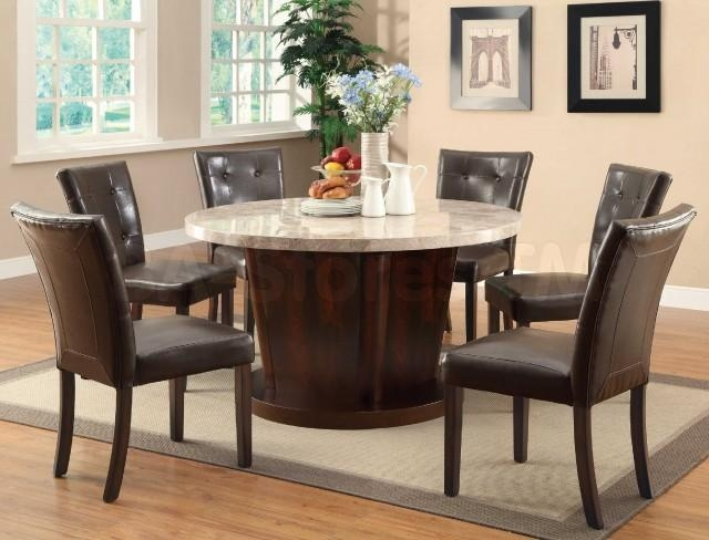 6 Person Round Dining Table | Iron Wood Regarding Round 6 Person Dining Tables (Image 2 of 20)