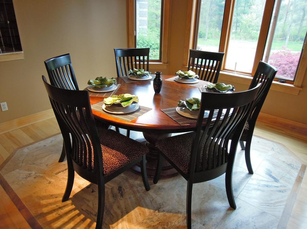 6 Person Round Dining Table – What Is The Advantage Of Portable In 6 Person Round Dining Tables (Image 2 of 20)