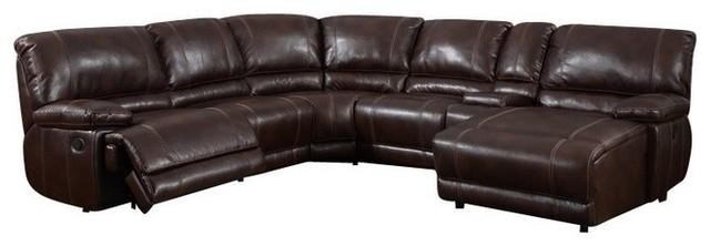 6 Piece Sectional Brown 940 – Contemporary – Sectional Sofas – Inside 6 Piece Sectional Sofas Couches (Photo 14 of 20)