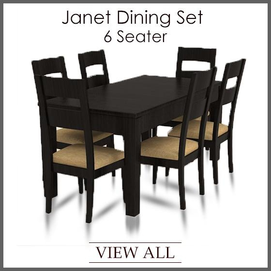 6 Seater Dining Set | Six Seater Dining Table And Chairs Throughout 6 Seater Dining Tables (View 9 of 20)