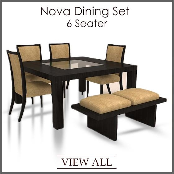 6 Seater Dining Set | Six Seater Dining Table And Chairs With Regard To 6 Seat Dining Tables (Image 1 of 20)