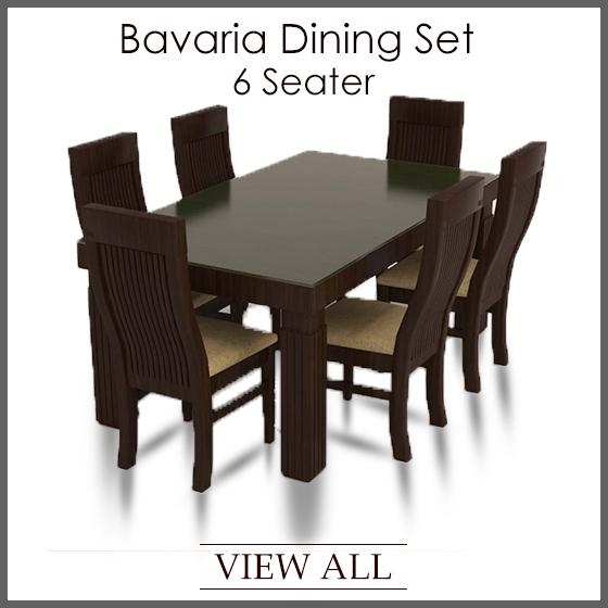6 Seater Dining Set | Six Seater Dining Table And Chairs Within 6 Seat Dining Table Sets (Photo 17 of 20)