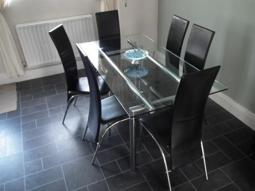 6 Seater Dining Table Decoration Ideas | Nationtrendz In Glass 6 Seater Dining Tables (Image 5 of 20)