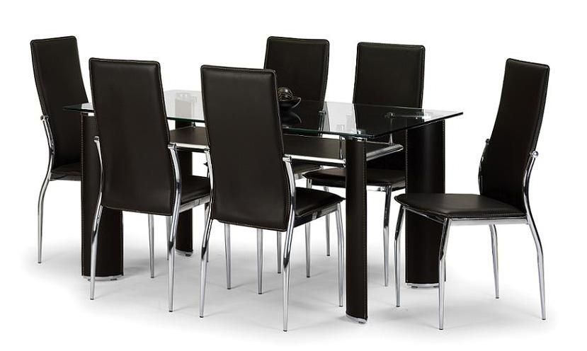 6 Seater Glass Dining Table Sets » Gallery Dining In 6 Seater Glass Dining  Table Sets