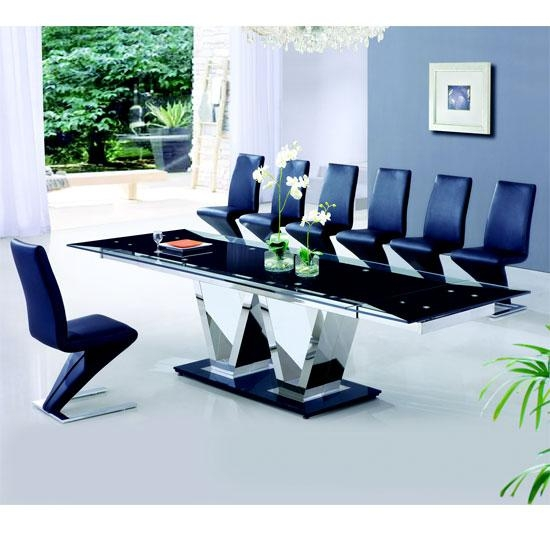 6 Seater Glass Dining Table Sets » Gallery Dining With Glass 6 Seater Dining Tables (Image 7 of 20)