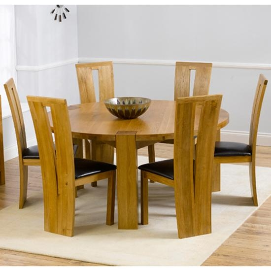 6 Seater Round Dining Table – Oware With 6 Seat Round Dining Tables (Image 2 of 20)