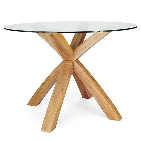 6 Seater Round Glass Dining Table All Products Kitchen Kitchen Inside Round Glass And Oak Dining Tables (Photo 4 of 20)