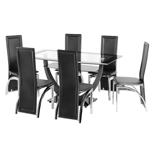 6 Seater Round Glass Dining Table All Products Kitchen Kitchen With 6 Seater Glass Dining Table Sets (Image 10 of 20)