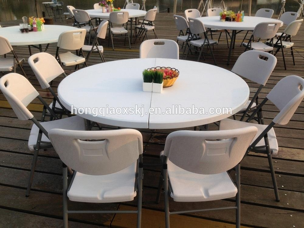 60 Inch Round Folding Table For Banquet And Wedding,used Round For Round Half Moon Dining Tables (Photo 17 of 20)