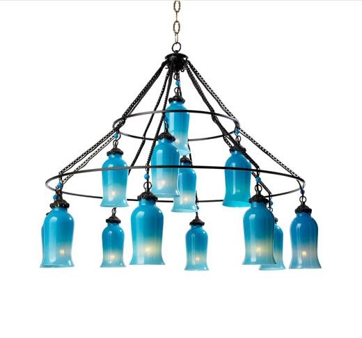62 Best Lighting Images On Pinterest In Turquoise Glass Chandelier Lighting (Image 9 of 25)