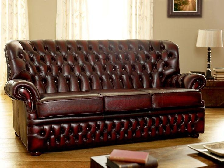 62 Best Sofas Images On Pinterest | Sofas, Chesterfield Sofa And 3 Inside Dark Red Leather Sofas (Image 6 of 20)