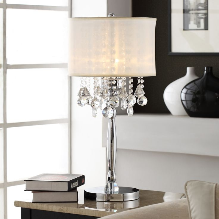 65 Best Chandelier Images On Pinterest Inside Faux Crystal Chandelier Table Lamps (Image 4 of 25)