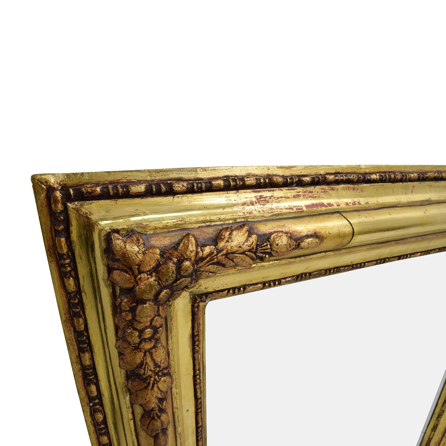 65% Off – Gilt Edged Gold Frame Mirror / Decor With Regard To Gilt Edged Mirror (Image 4 of 20)