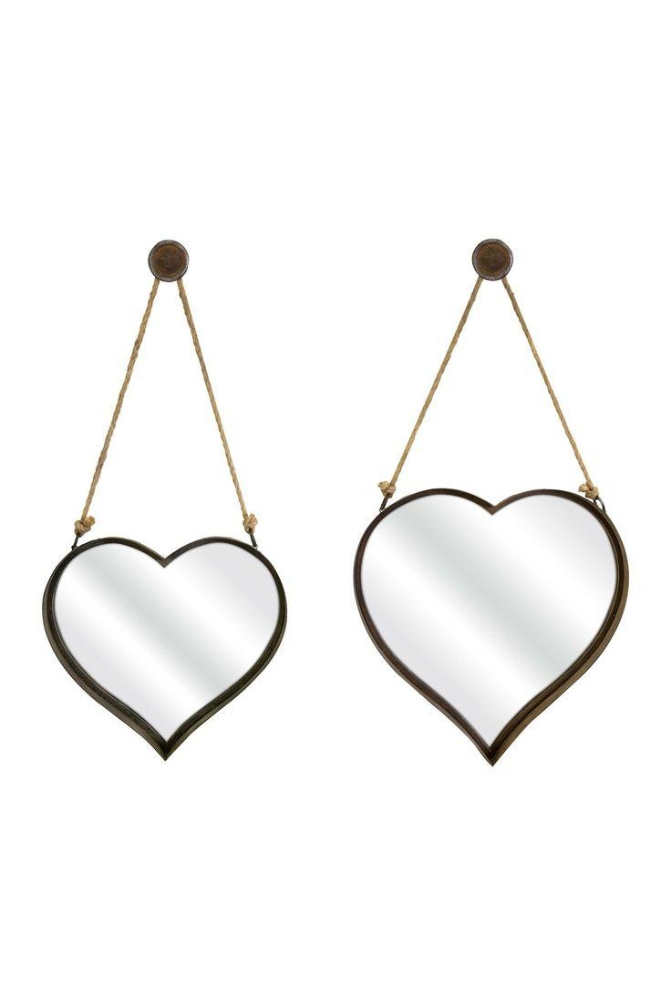 676 Best Mirror Images On Pinterest | Mirror Mirror, Decorative Intended For Heart Shaped Mirrors For Walls (Image 2 of 20)